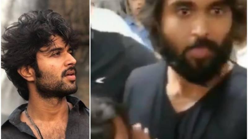 VijayDeverakonda's fan breaks down on seeing him, his reaction has the internet in love. Watch video