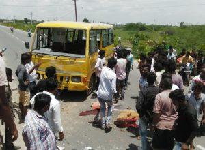 School bus hits divider; 3 children dead, several injured