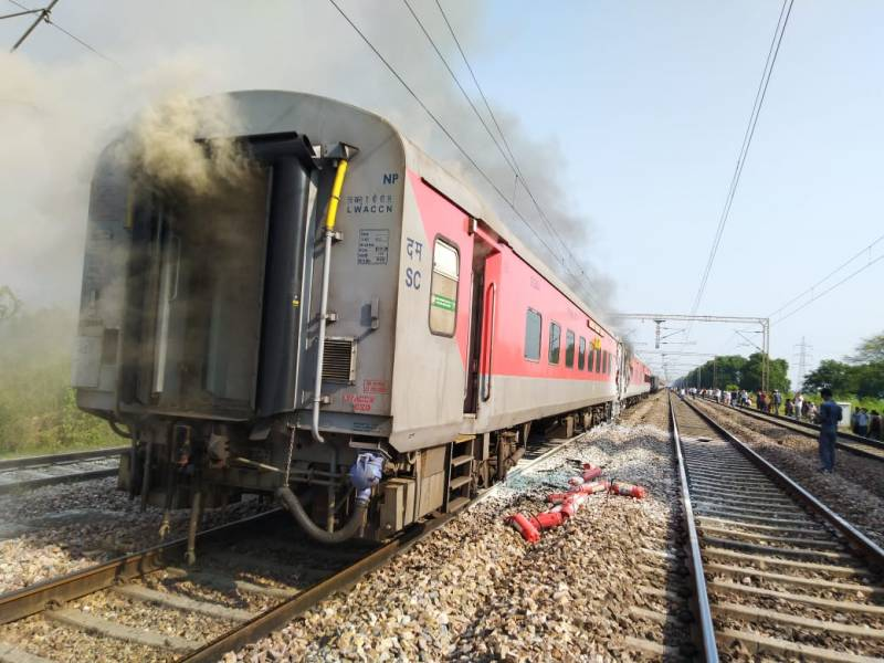 Fire breaks out in Telangana Express, no casualty