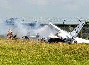 Aircraft Crash in Aligarh; no injuries