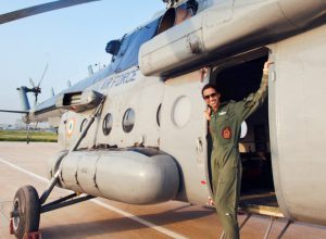 Dhami scripts history, 1st woman to become Flight Commander