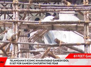 Khairatabad 61 feet Ganesh Idol making video 2019