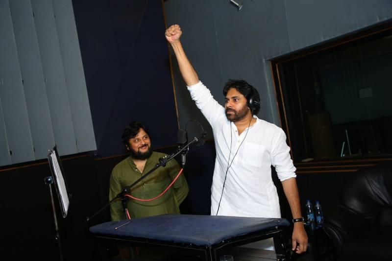 Pawan Kalyan records voice for historic Sye Raa