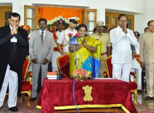 Swearing in ceremony of new Governor of Telangana