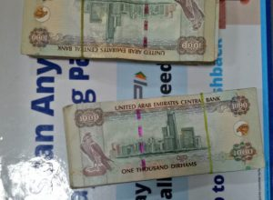 Man smuggling Rs 67 lakh worth UAE Dirham caught at Hyderabad airport