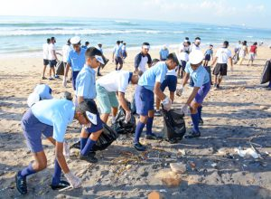 Navy, Coast Guard, police and students form clean-up crew for Vizag beaches