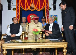 Former Union minister Bandaru Dattatraya sworn in as Gov of HP