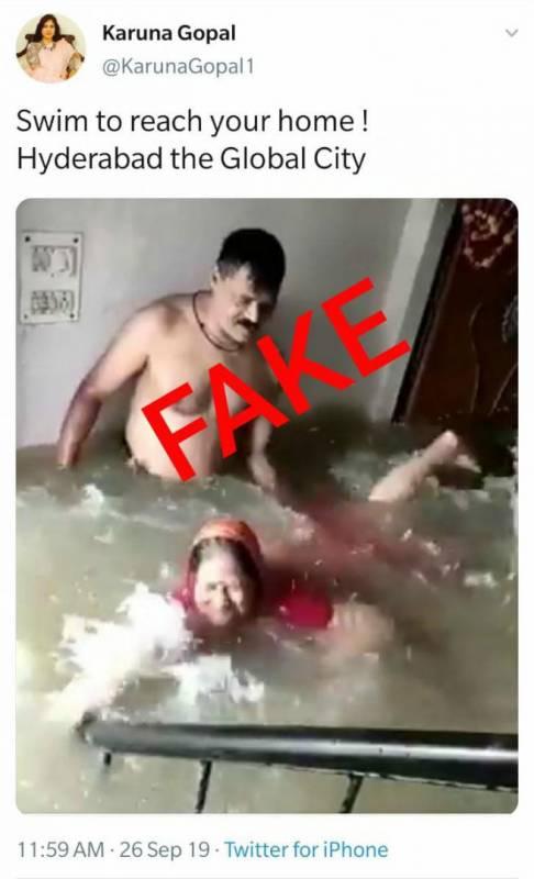 Fact Check Flood Tweet
