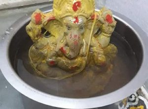 Ganesha loves his 'bucket' immersion