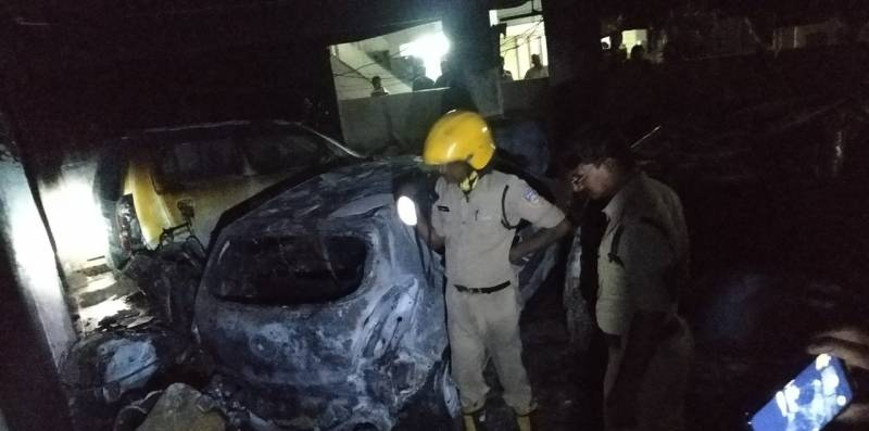 Fire at Ganesh pandal in Hyderabad, no casualties