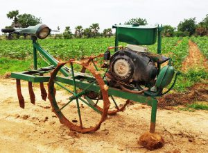 Scooter engine used for manufacturing ploughing machine: Nalgonda
