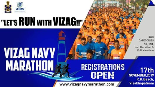 Vizag hosts Navy Marathon 2019 on November 17
