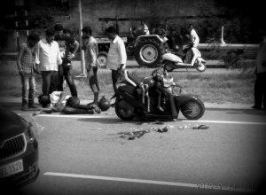 Helmet saves farmer but his daughter killed on Hyderabad-Warangal highway