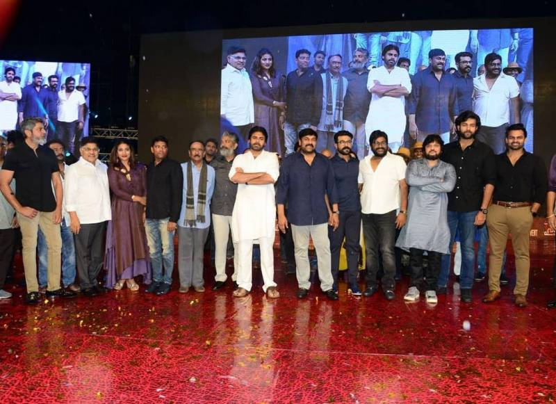 Chiranjeevi credits Rajamouli for Sye Raa at pre-release event