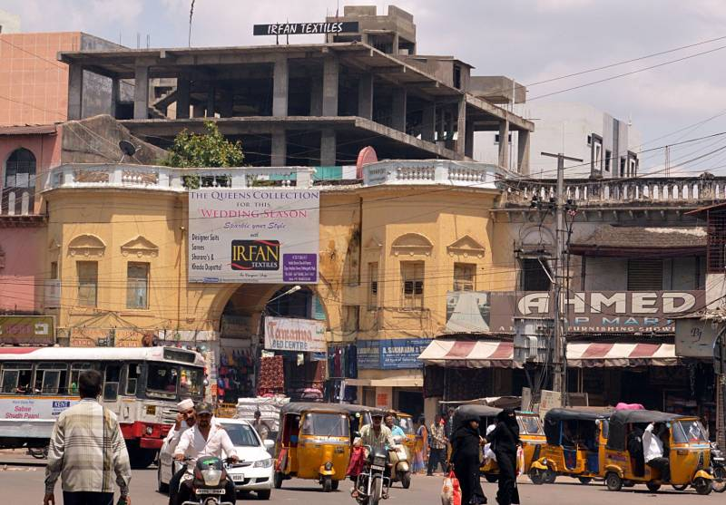 Hyderabads Diwan Devdi, once a palace, now a thriving market