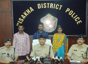 Three Maoists, including a woman, surrender in Andhra Pradesh.