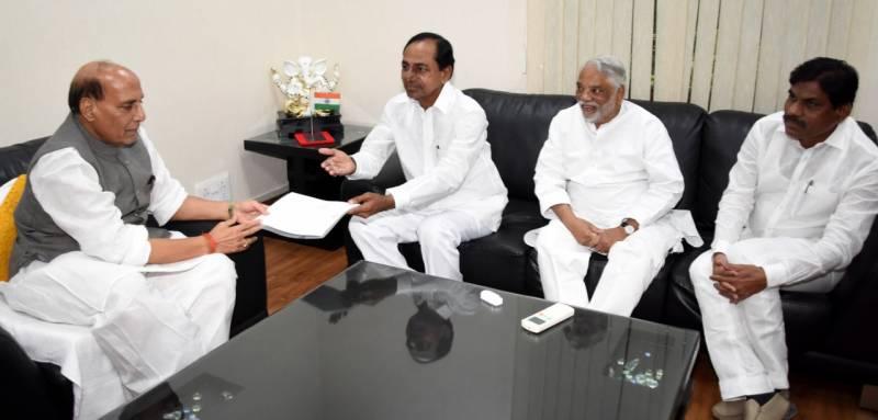 Chief Minister K Chandrashekar Rao met PM.Modi and Rajnath singh