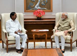 Telangana CM KCR calls on Prime Minister Modi; submits list of 23 demands