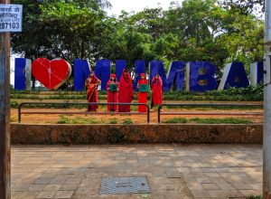 Red Saree Brigade creatively raised their voice against climate injustice in Mumbai