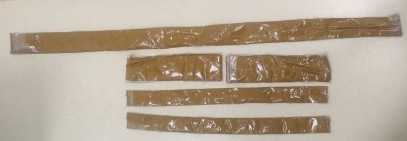 Man smuggles gold in liquid form hidden in customised jeans; caught by officers at Hyderabad Airport