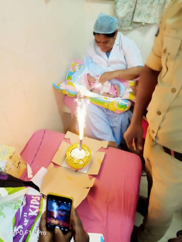 NIMS doctors celebrate b'day of rescued baby