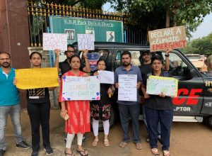 "Hyderabad's protest in solidarity with Aarey activists fighting ""illegal hacking of trees"""