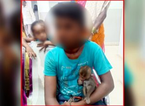 Uppal police books parents as son begs using baby monkey