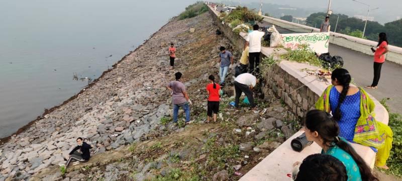 #CleanKarimnagar Dam Drive enters its 27th Day