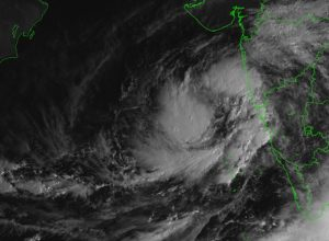 Cyclonic Storm 'Kyarr' over the east-central Arabian Sea