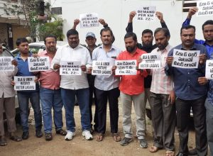 For 8 straight hours, cabbies protested at Hyderabad Airport