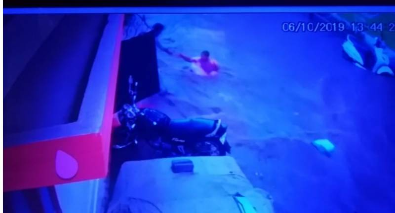 Women rescued from flooding street in Hyderabad; CCTV visuals go viral