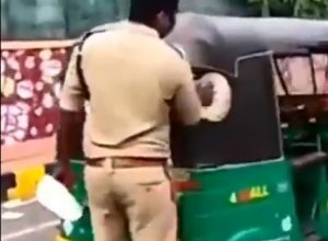 BJP and TDP criticises the police over sticking Jagan's stickers on autos