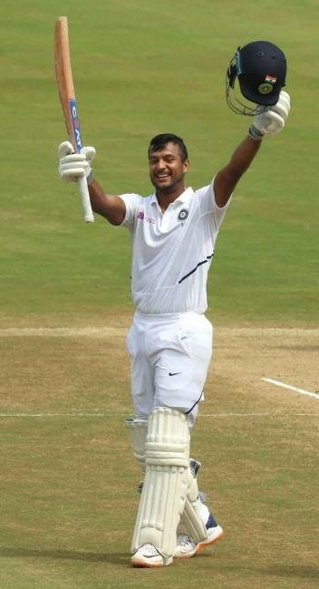 Mayank Agarwal's double ton put India on top in test match against South Africa