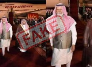 Did PM Modi wear Arabic headgear in Saudi Arabia to woo investments?