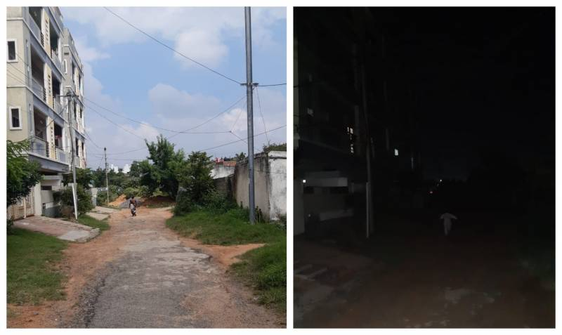 One year of darkness for some residents in Trimulgherry due to broken streetlights