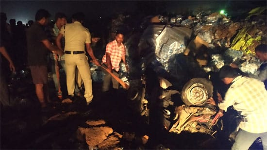 12 including 8 of family killed as container truck crushes three vehicles in Chittoor