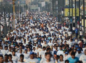 Over 19,000 people, including foreigners, participated in the Vizag Navy Marathon