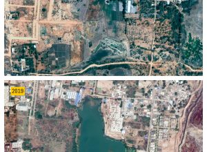 A view from the satellite: The revival of Ibrahimbagh lake at the cost of River Musi