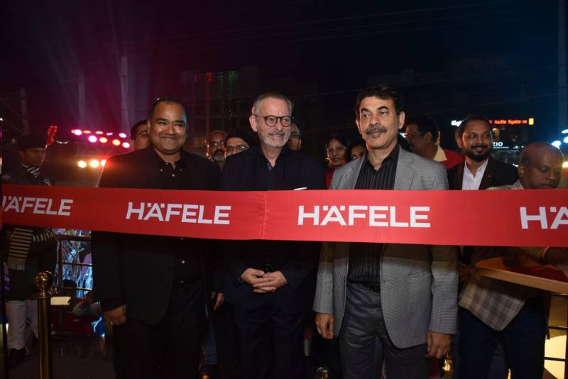 Sri Mr Jayesh Ranjan With With Mr. Jürgen Wolf, Managing Director, Häfele South Asia During The Launching The Hafele Design Centre