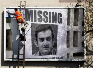 Posters of Gautam Gambhir 'Missing' seen in Delhi streets