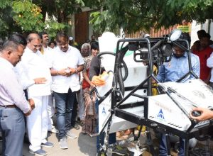 Hyderabad gets its first robotic manhole cleaning machine