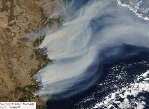 Satellite images show how bushfire in Australia turned New Zealand's sky red
