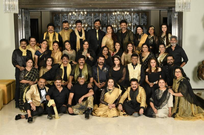 'Class of 80s' meets at megastar Chiranjeevis house in Hyderabad