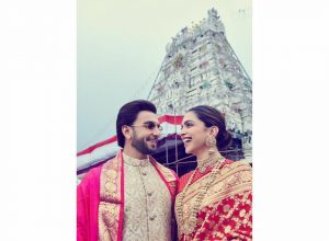 DeepVeer reach Tirupati Devasthanam to ring in first wedding anniversary celebrations