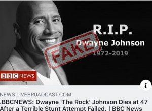 Fake News: The internet 'kills' Dwayne 'The Rock' Johnson again