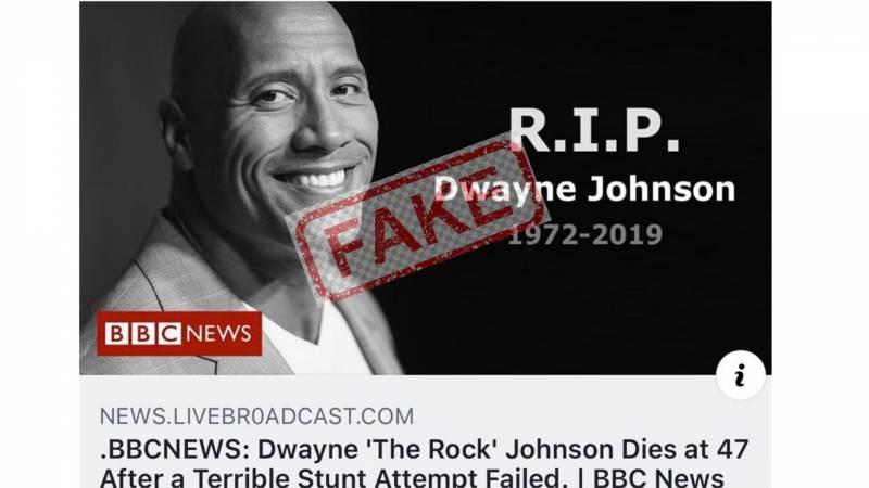 Fake News: The internet kills Dwayne The Rock Johnson again