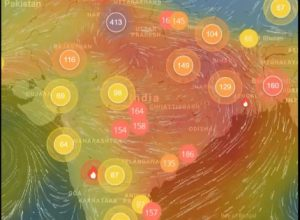 Satellite images suggest that Delhi air pollution might spread to other parts of India