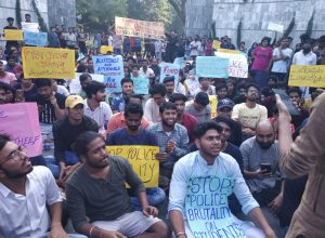 EFLU students protest in support of JNU, police intervened