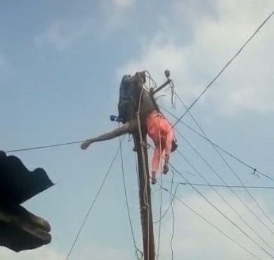 Man suffers serious injuries as electricity staff engage him to fix power line