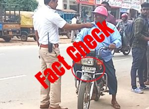 Viral Video about half-helmets not from Hyderabad